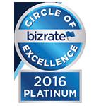 Bizrate 2016 Platinum Circle of Excellence