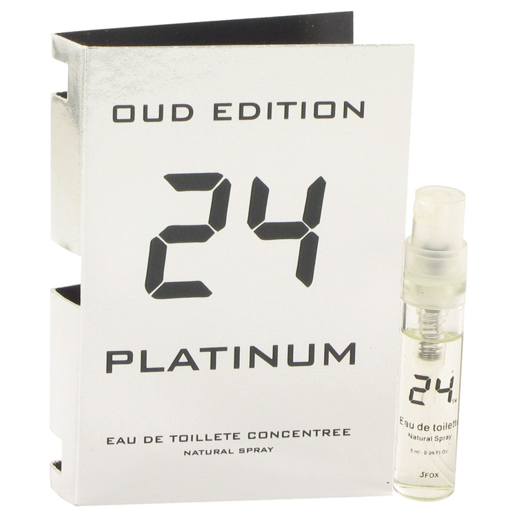 24 Platinum Oud Edition by ScentStory for Men Vial Concentree (sample) .10 oz