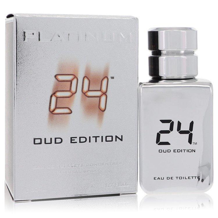 24 Platinum Oud Edition by ScentStory for Men Eau De Toilette Concentree Spray 1.7 oz