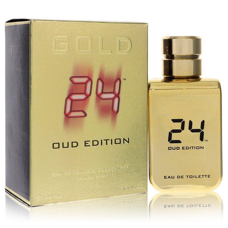 24 Gold Oud Edition by ScentStory for Men Eau De Toilette Concentree Spray (Unisex) 3.4 oz