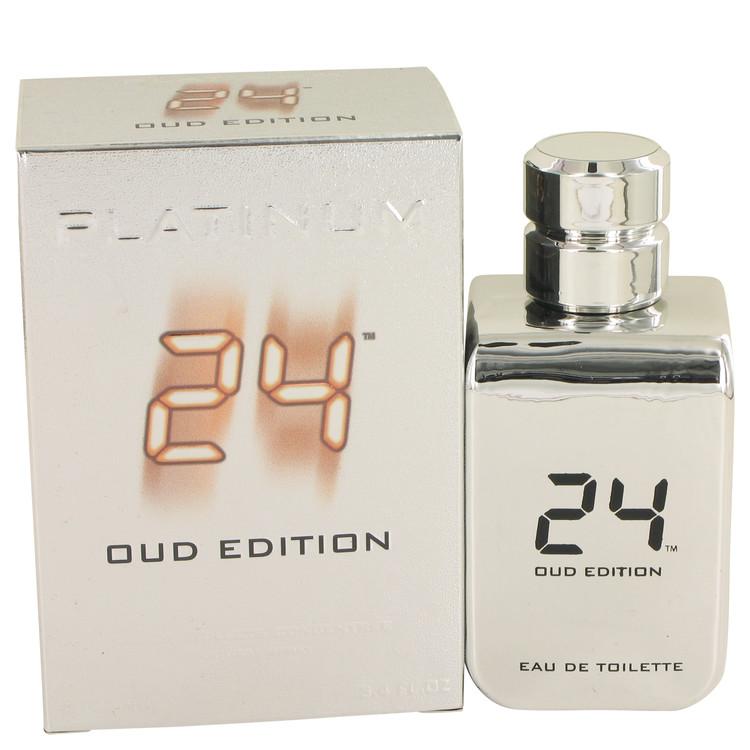 24 Platinum Oud Edition by ScentStory for Men Eau De Toilette Concentree Spray (Unisex) 3.4 oz