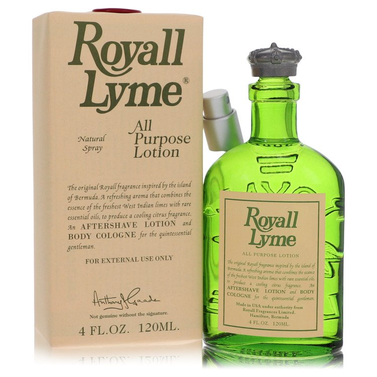 ROYALL LYME by Royall Fragrances for Men All Purpose Lotion / Cologne 4 oz