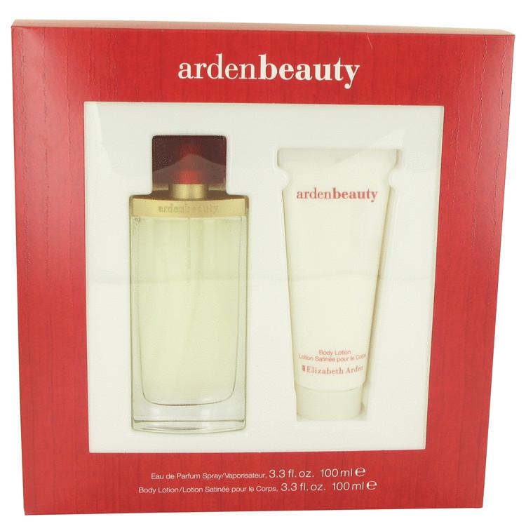 Arden Beauty by Elizabeth Arden for Women Gift Set -- 3.3 oz Eau De Parfum Spray + 3.3 oz Body Lotion