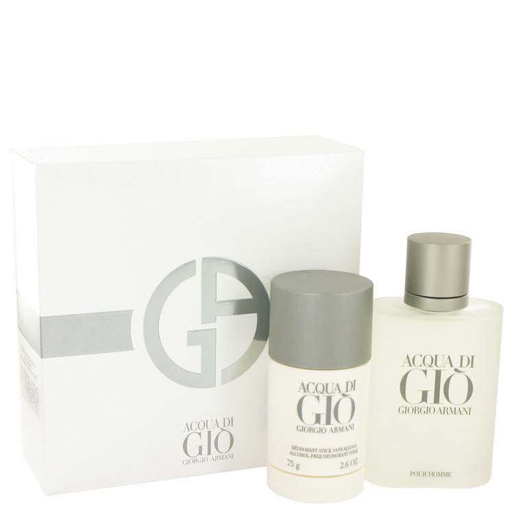 ACQUA DI GIO by Giorgio Armani for Men Gift Set -- 3.4 oz Eau De Toilette Spray + 2.6 oz Deodorant Stick