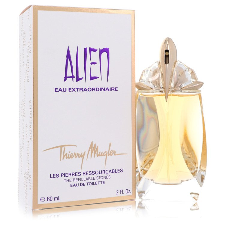 Alien Eau Extraordinaire by Thierry Mugler for Women Eau De Toilette Spray Refillable 2 oz