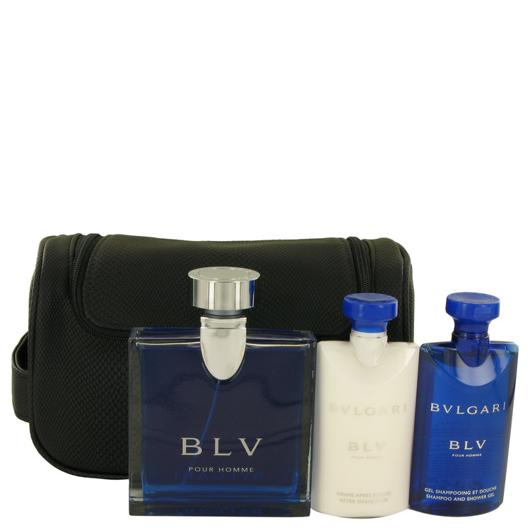 BVLGARI BLV (Bulgari) by Bvlgari for Men Gift Set -- 3.4 oz Eau De Toilette Spray + 2.5 oz After Shave Balm +2.5 oz Shower Gel +