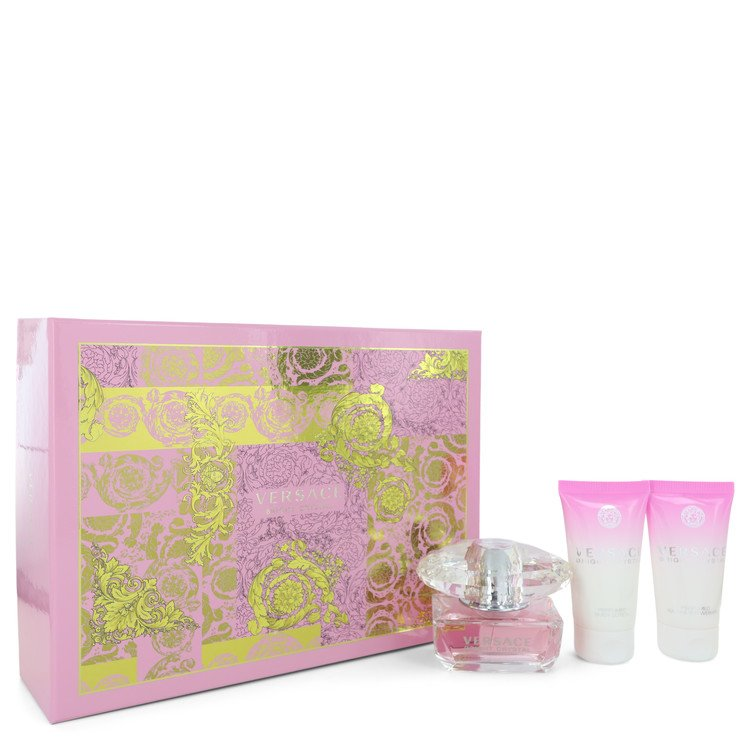 Bright Crystal by Versace for Women Gift Set -- 1.7 oz Eau De Toilette Spray + 1.7 oz Body Lotion + 1.7 oz Shower Gel