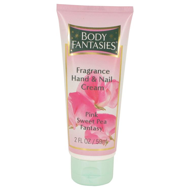 Body Fantasies Signature Pink Sweet Pea Fantasy by Parfums De Coeur for Women Hand & Nail Cream 2 oz