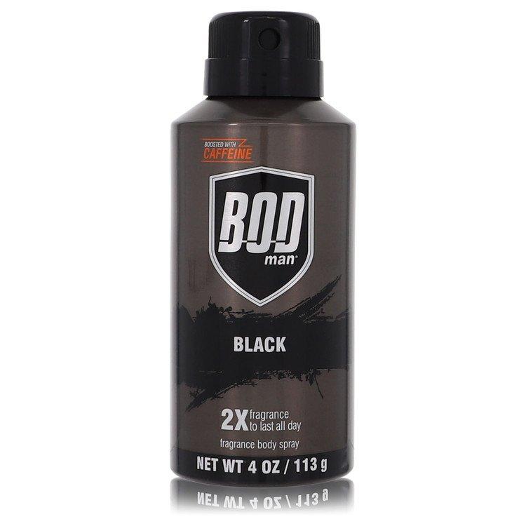 Bod Man Black by Parfums De Coeur for Men Body Spray 4 oz