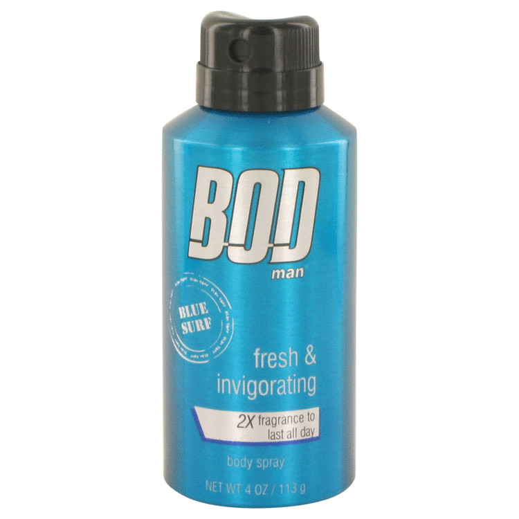 Bod Man Blue Surf by Parfums De Coeur for Men Body spray 4 oz