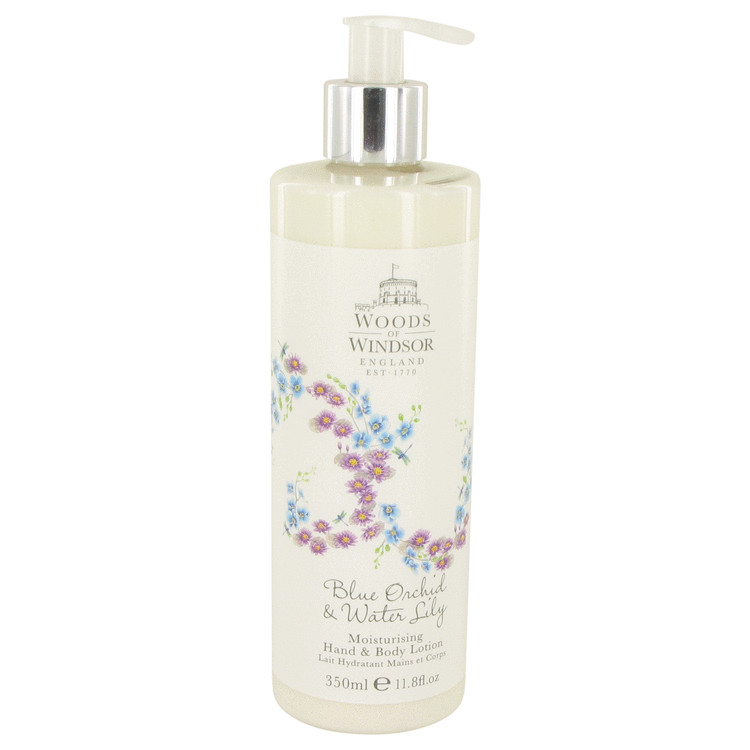 Blue Orchid & Water Lily by Woods of Windsor for Women Body Lotion 11.8 oz