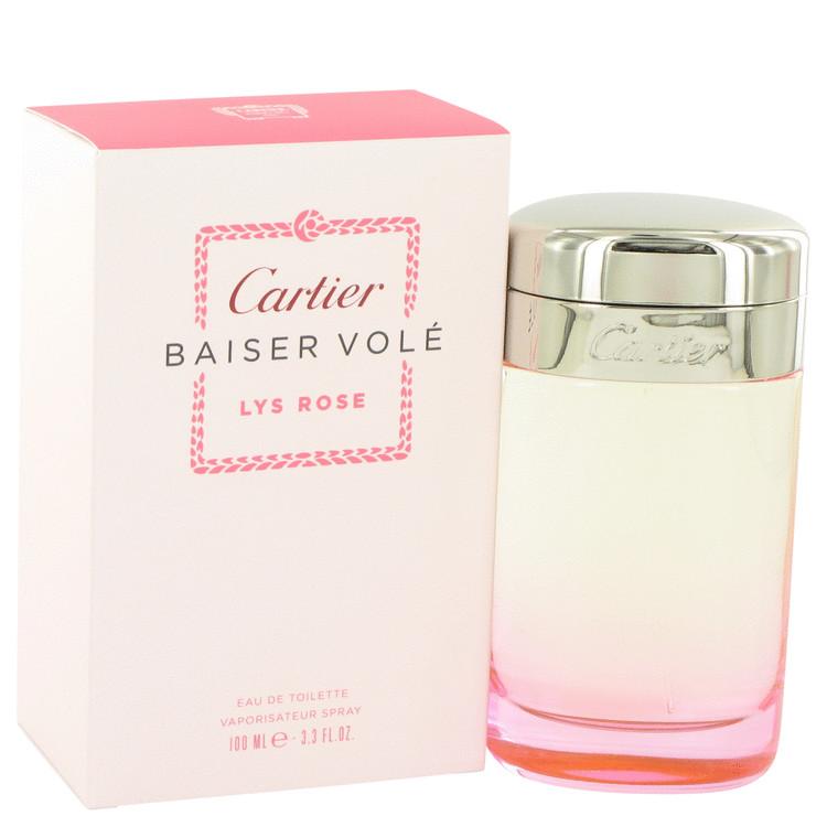 Baiser Vole Lys Rose by Cartier for Women Eau De Toilette Spray 3.3 oz