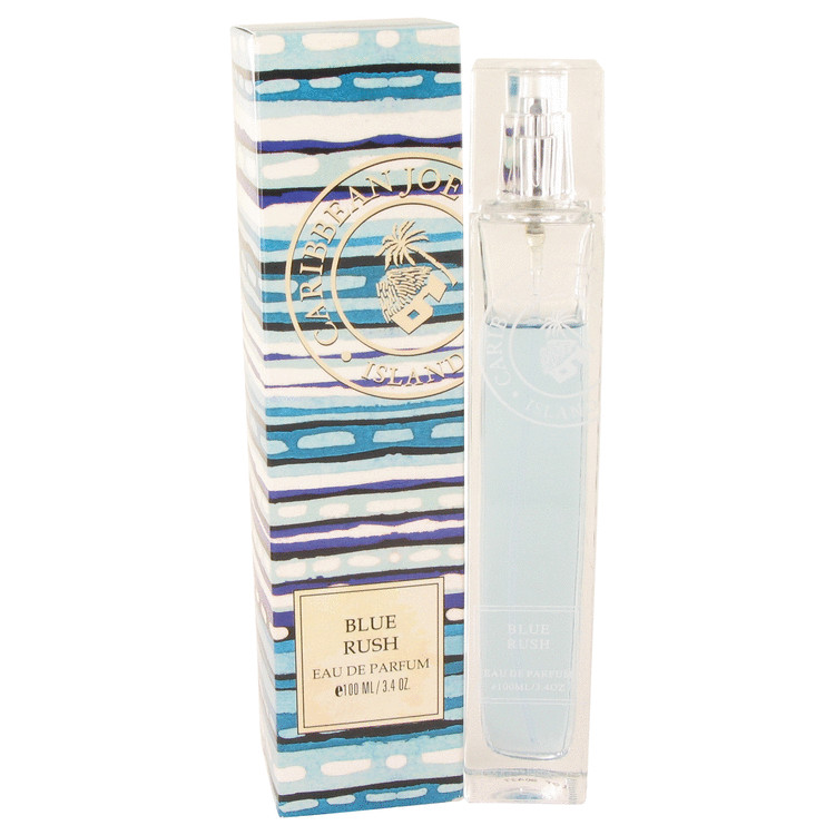 Blue Rush (Caribbean Joe) by Caribbean Joe for Women Eau De Parfum Spray 3.4 oz