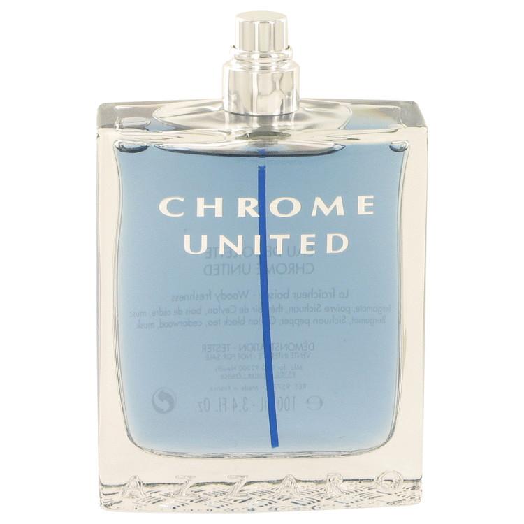 Chrome United by Azzaro for Men Eau De Toilette Spray (Tester) 3.4 oz