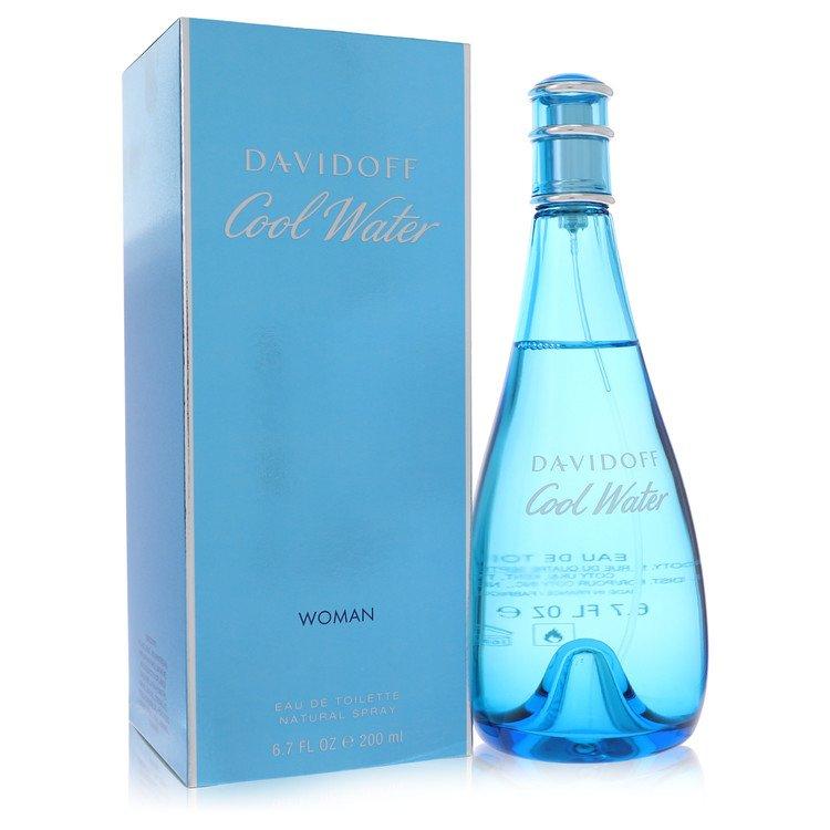 COOL WATER by Davidoff for Women Eau De Toilette Spray 6.7 oz