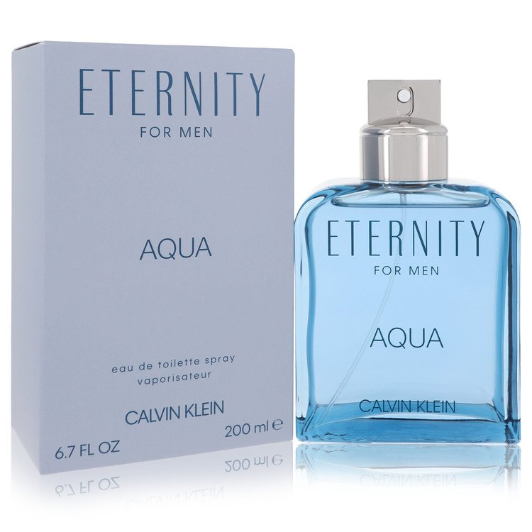 Eternity Aqua by Calvin Klein for Men Eau De Toilette Spray 6.7 oz