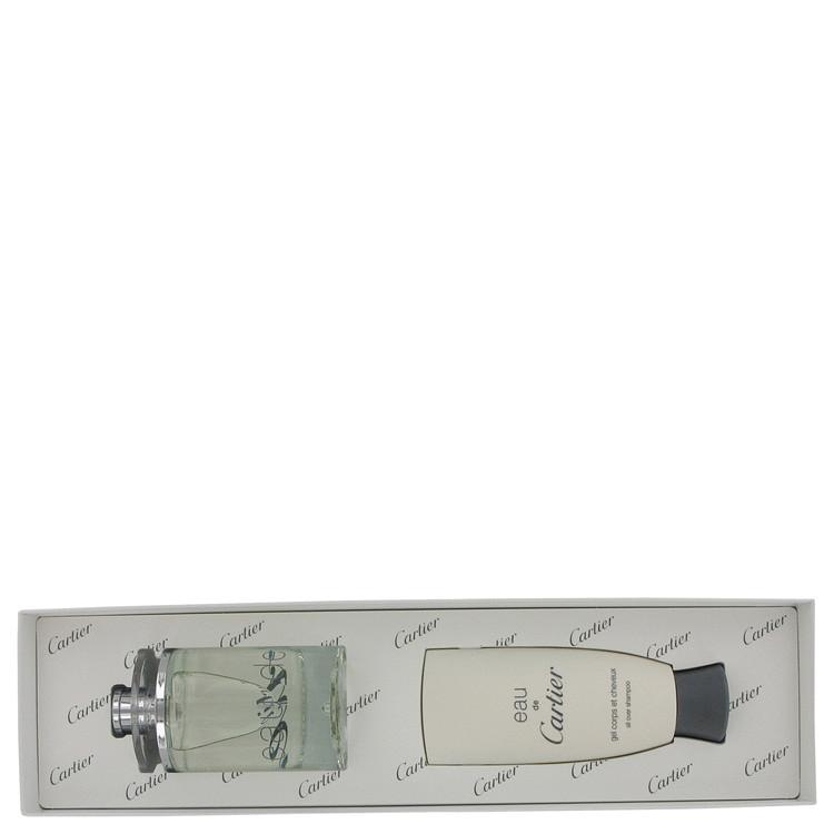 EAU DE CARTIER by Cartier for Men Gift Set -- 3.3 oz Eau De Toilette Spray + 3.3 oz All Over Shampoo