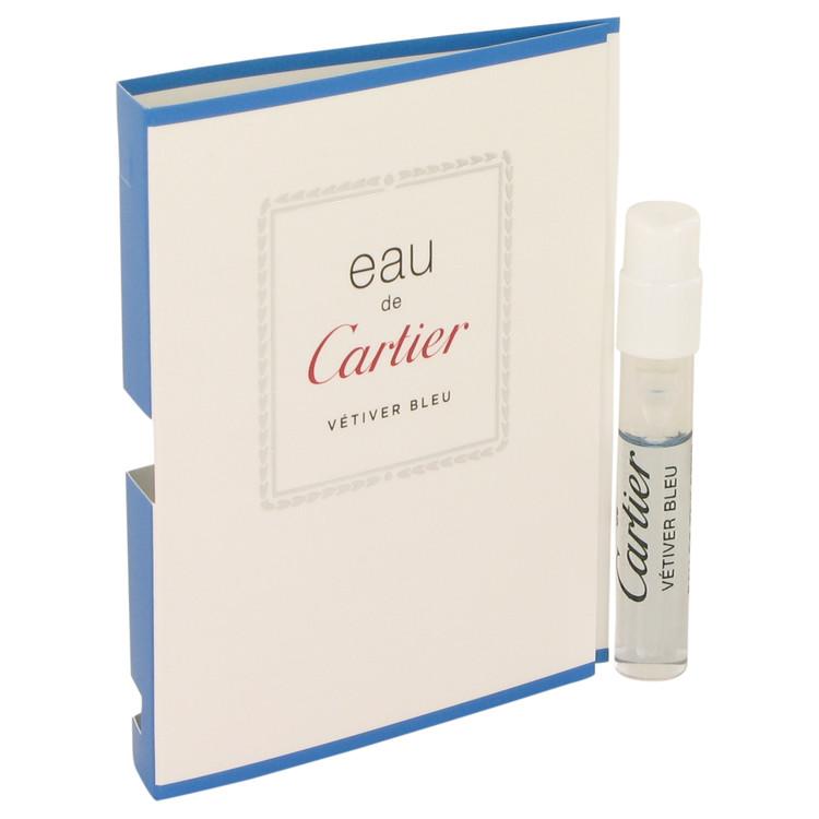 Eau De Cartier Vetiver Bleu by Cartier for Men Vial (sample) .05 oz