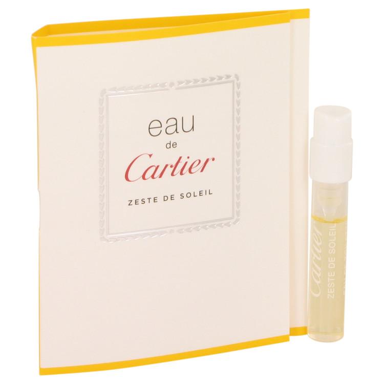 Eau De Cartier Zeste De Soleil by Cartier for Men Vial (sample) .05 oz