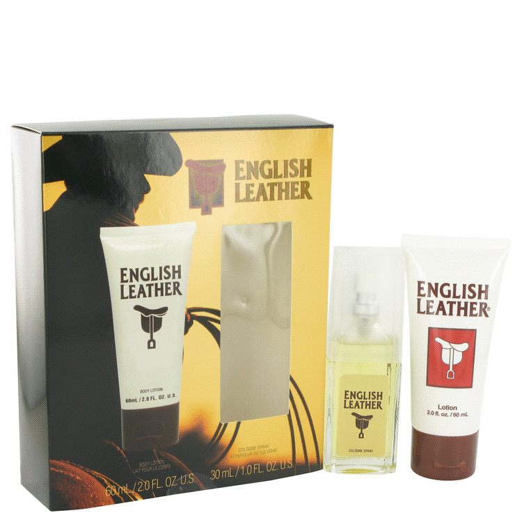 ENGLISH LEATHER by Dana for Men Gift Set -- 1 oz Cologne Spray + 2 oz Body Lotion