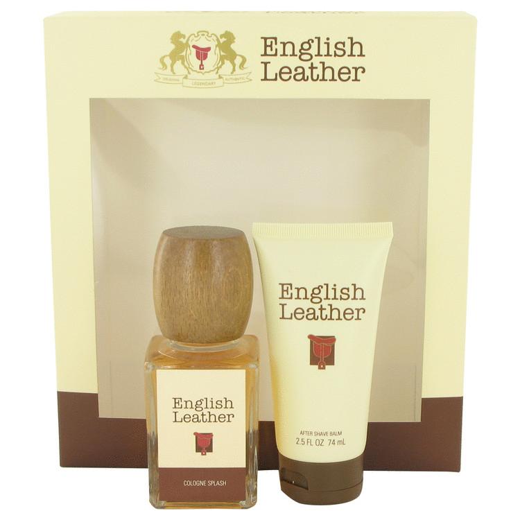 ENGLISH LEATHER by Dana for Men Gift Set -- 3.4 oz Cologne Splash + 2.5 oz After Shave Balm