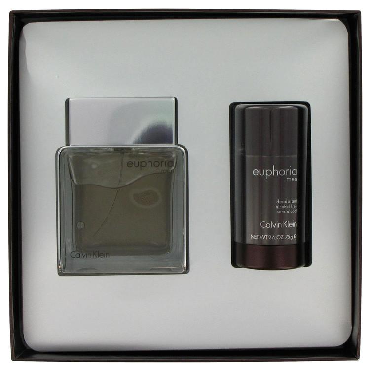 Euphoria by Calvin Klein for Men Gift Set -- 3.4 oz Eau De Toilette Spray + 2.6 oz Deodorant Stick