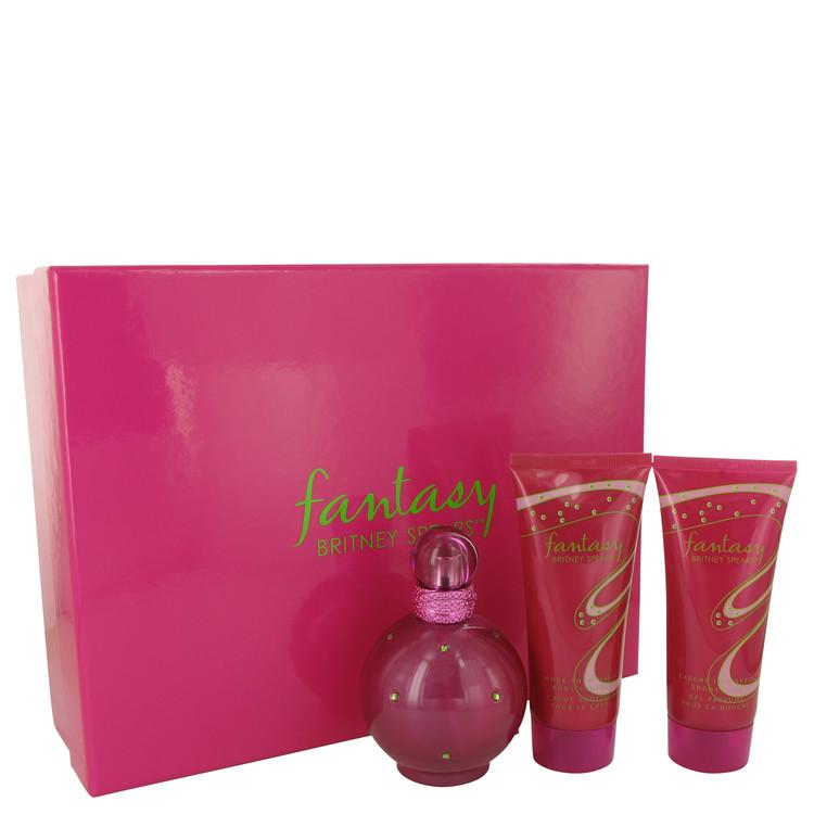 Fantasy by Britney Spears for Women Gift Set -- 3.3 oz Eau De Parfum Spray + 3.3 oz Body Souffle + 3.3 oz Shower Gel