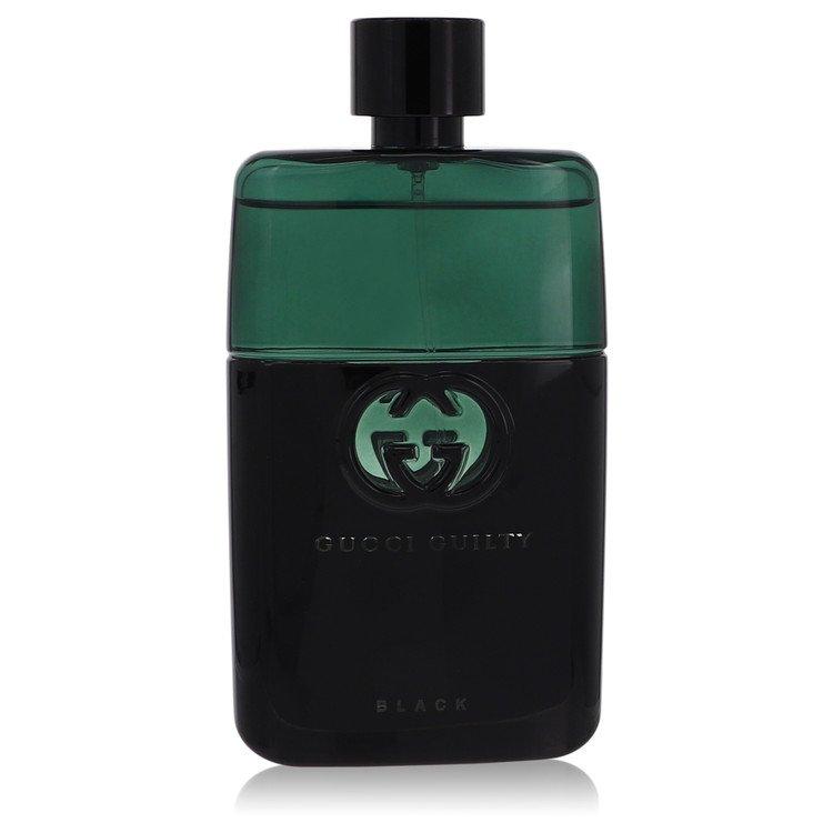 Gucci Guilty Black by Gucci for Men Eau De Toilette Spray (Tester) 3 oz