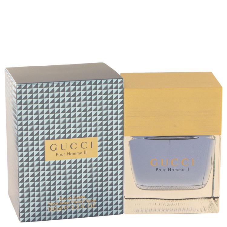 Gucci Pour Homme II by Gucci for Men Eau De Toilette Spray 3.4 oz