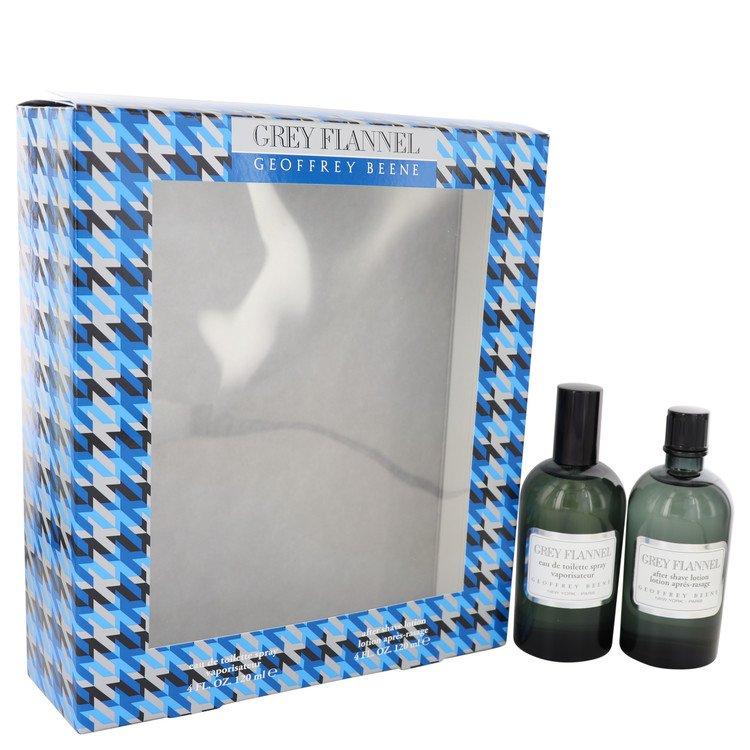 GREY FLANNEL by Geoffrey Beene for Men Gift Set -- 4 oz Eau De Toilette Spray + 4 oz After Shave