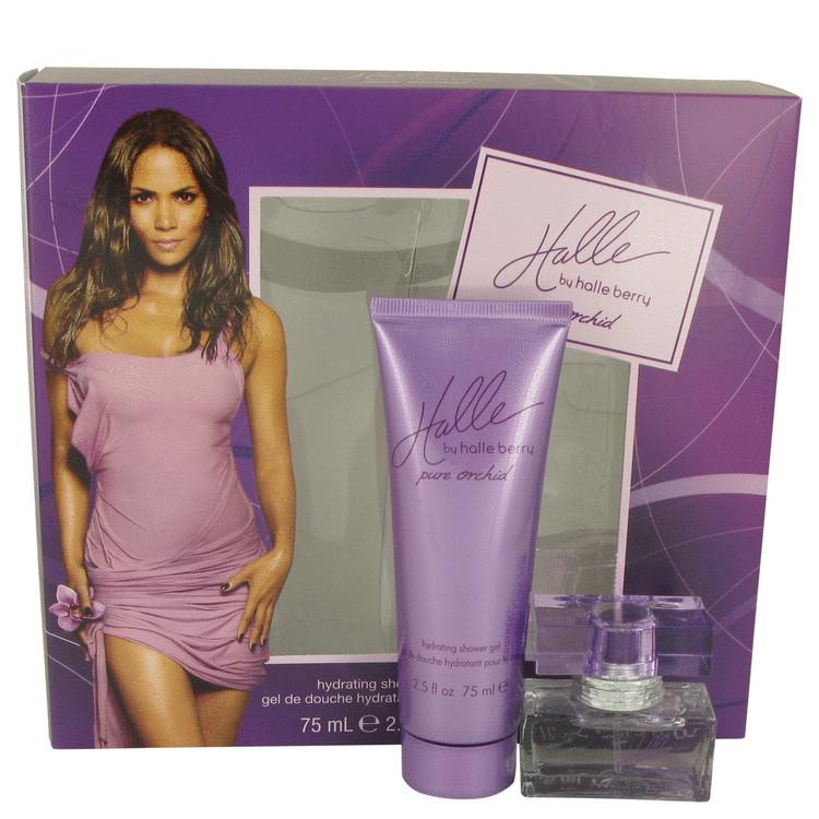 Halle Berry Pure Orchid by Halle Berry for Women Gift Set -- .5 oz Eau De Parfum Spray + 2.5 oz Shower Gel
