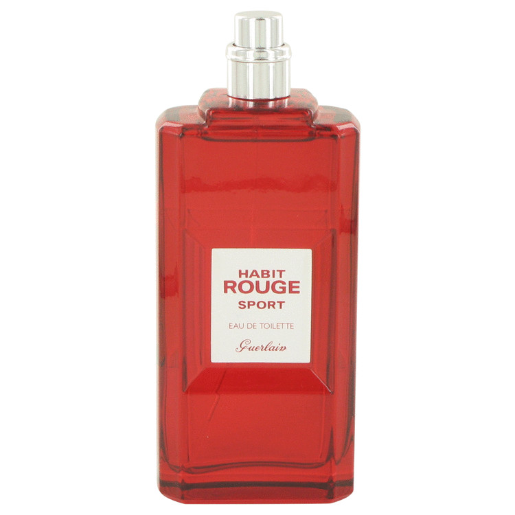 HABIT ROUGE Sport by Guerlain for Men Eau De Toilette Spray (Tester) 3.3 oz