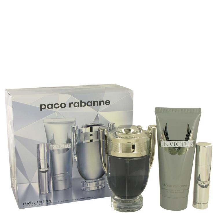 Invictus by Paco Rabanne Men's Gift Set 3.4 oz Eau De Toilette Spray + .34 oz Mini EDT Spray +3.4 oz Body Wash Image