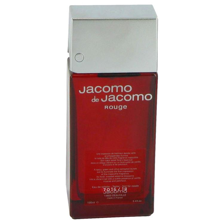 JACOMO DE JACOMO ROUGE by Jacomo for Men Eau De Toilette Spray (Tester) 3.4 oz