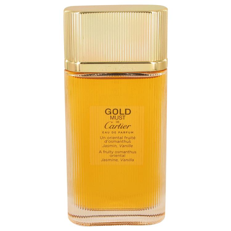 Must De Cartier Gold by Cartier for Women Eau De Parfum Spray (Tester) 3.3 oz