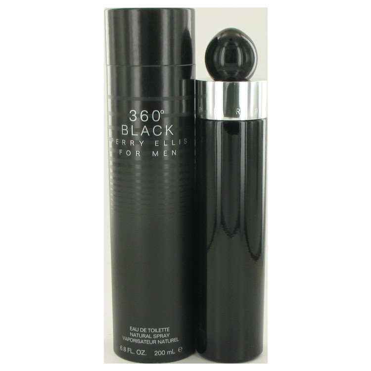 Perry Ellis 360 Black by Perry Ellis for Men Eau De Toilette Spray 6.8 oz