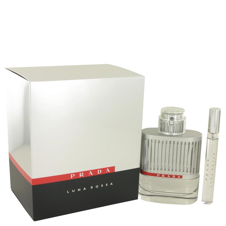 Prada Luna Rossa by Prada for Men Gift Set -- 3.4 oz Eau De Toilette Spray +.34 oz Mini EDT Pen Spray