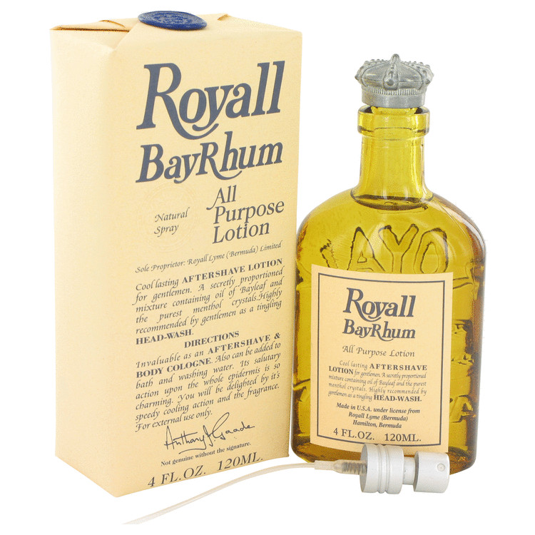Royall Bay Rhum by Royall Fragrances for Men All Purpose Lotion / Cologne with sprayer 4 oz