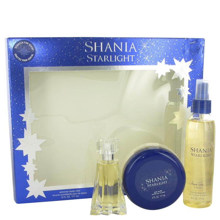 Shania Starlight by Stetson for Women Gift Set -- 1.7 oz Eau De Toilette Spray + 6.7 oz Shimmer Body Mist + 6 oz Body Souffle
