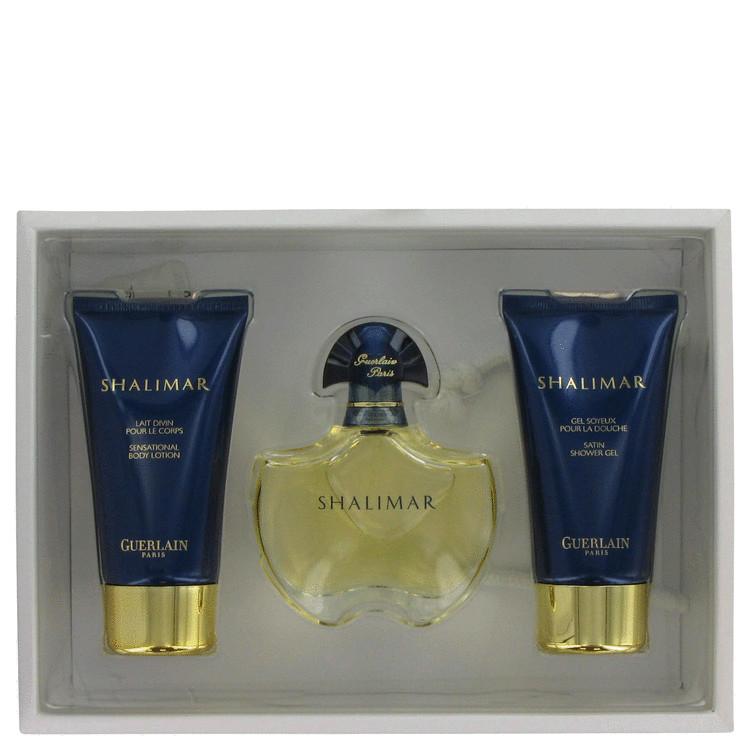 SHALIMAR by Guerlain for Women Gift Set -- 1.7 oz Eau De Toilette Spray + 2.5 oz Body Lotion + 2.5 oz Shower Gel
