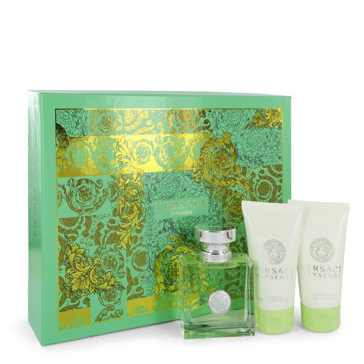 Versace Versense by Versace for Women Gift Set -- 1.7 oz Eau De Toilette Spray + 1.7 oz Body Lotion + 1.7 oz Shower Gel