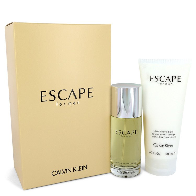 ESCAPE by Calvin Klein for Men Gift Set -- 3.4 oz Eau De Toilette Spray + 6.7 oz After Shave Balm
