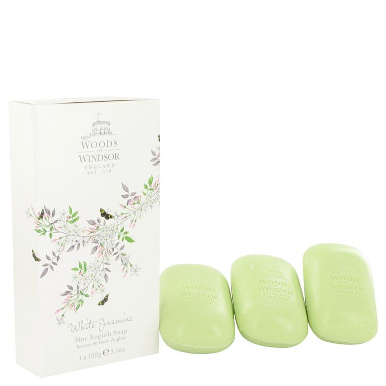 White Jasmine by Woods of Windsor for Women 3 x 3.5 oz Soap 3.5 oz