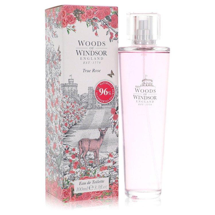 True Rose by Woods of Windsor for Women Eau De Toilette Spray 3.3 oz