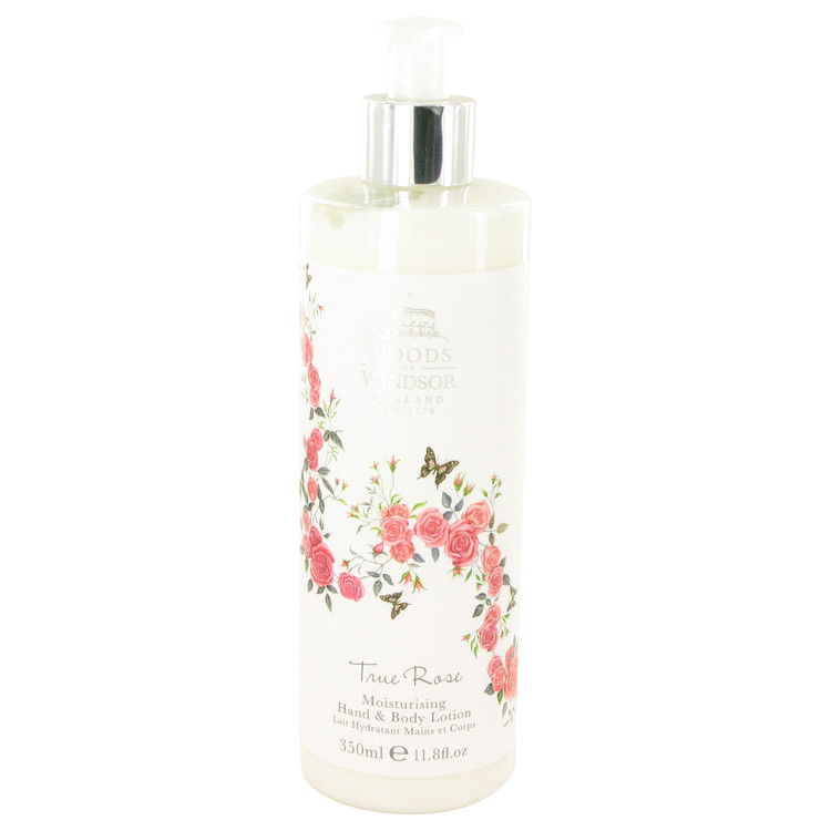 True Rose by Woods of Windsor for Women Hand & Body Lotion 11.8 oz