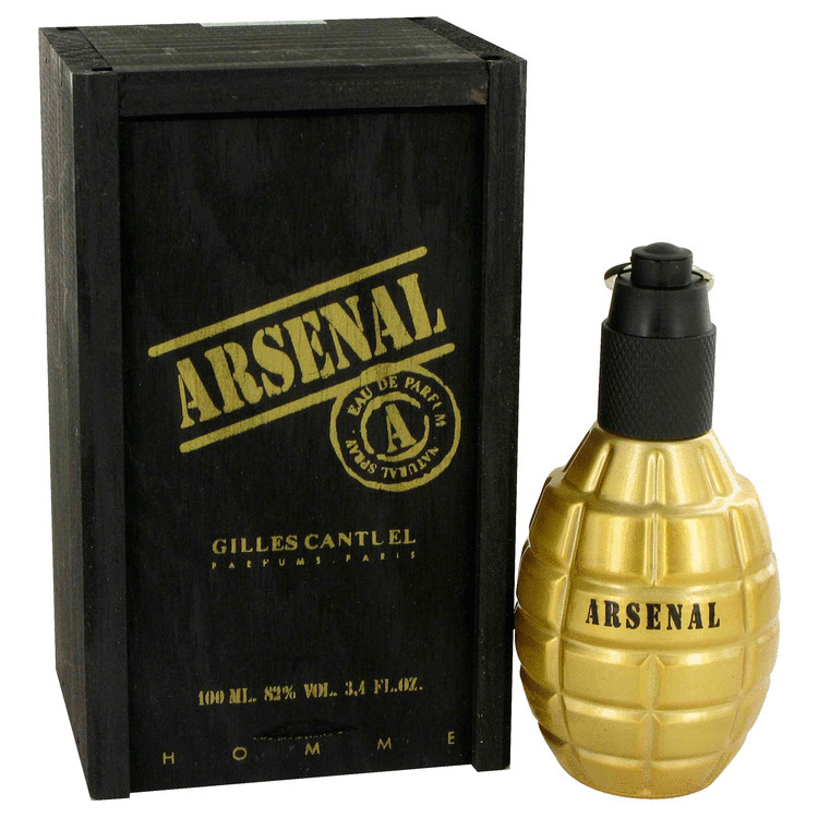 Arsenal Gold by Gilles Cantuel for Men Eau De Parfum Spray 3.4 oz