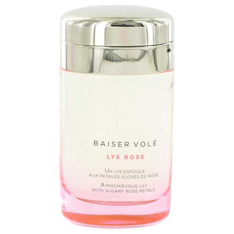 Baiser Vole Lys Rose by Cartier for Women Eau De Toilette Spray (Tester) 3.3 oz