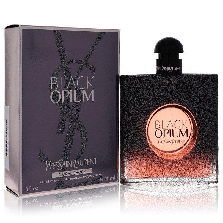 Black Opium Floral Shock by Yves Saint Laurent for Women Eau De Parfum Spray 3 oz