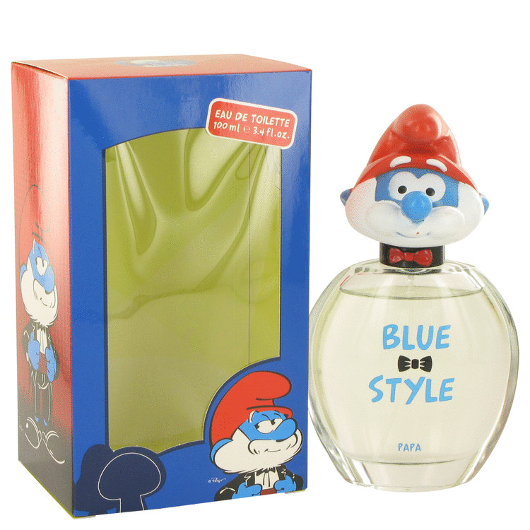 The Smurfs by Smurfs for Men Blue Style Papa Eau De Toilette Spray 3.4 oz