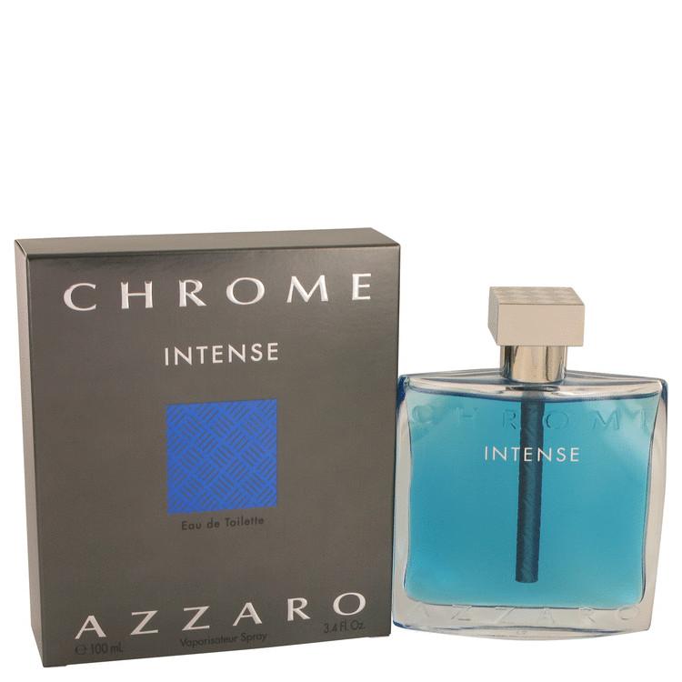 Chrome Intense by Loris Azzaro for Men Eau De Toilette Spray 3.4 oz